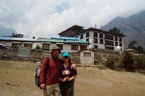 Wes and I with Tengboche Monastery in the background.